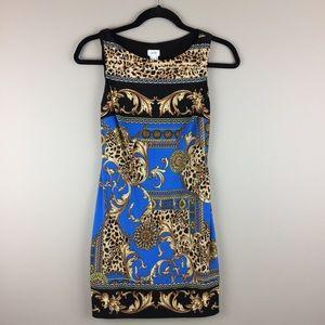 Cache leopard scarf print dress